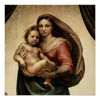 "Raphael's ""Sistine Madonna"" Detail (circa 1513) Poster"
