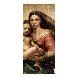 "Raphael's ""Sistine Madonna"" Detail (circa 1513) Custom Rack Cards"