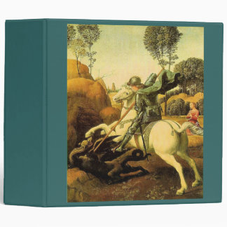 "Raphael's ""St. George and the Dragon"" (circa 1505) 3 Ring Binder"