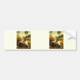 "Raphael's ""St. George and the Dragon"" (circa 1505) Bumper Sticker"