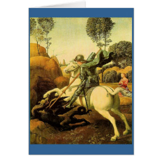 "Raphael's ""St. George and the Dragon"" (circa 1505) Card"