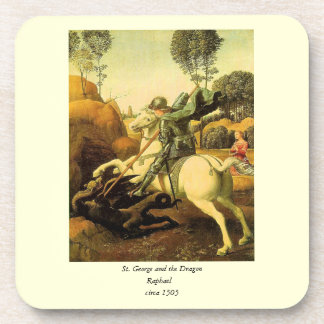 "Raphael's ""St. George and the Dragon"" (circa 1505) Drink Coaster"