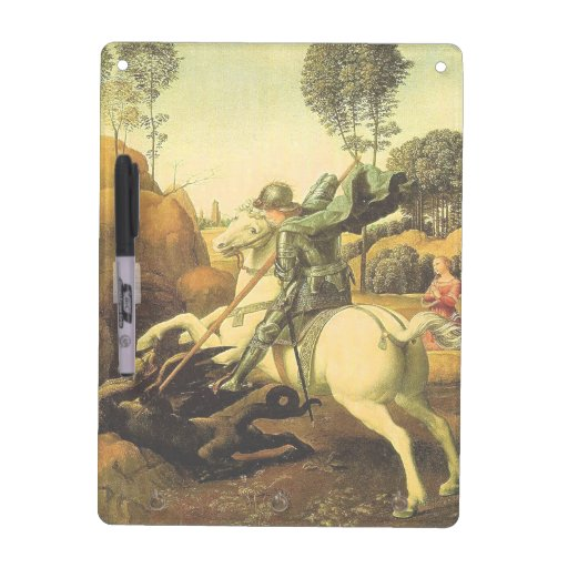 """Raphael's """"St. George and the Dragon"""" (circa 1505) Dry-Erase Whiteboards"""