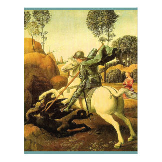 """Raphael's """"St. George and the Dragon"""" (circa 1505) Flyer"""