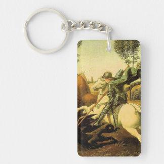 "Raphael's ""St. George and the Dragon"" (circa 1505) Keychain"