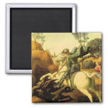 "Raphael's ""St. George and the Dragon"" (circa 1505) Fridge Magnet"