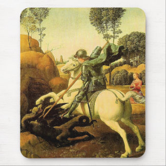 """Raphael's """"St. George and the Dragon"""" (circa 1505) Mouse Pad"""