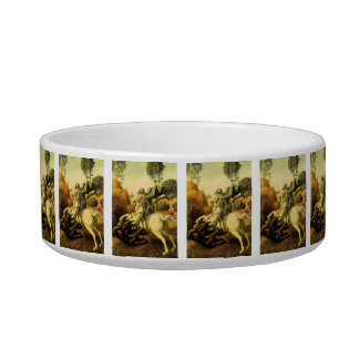 """Raphael's """"St. George and the Dragon"""" (circa 1505) Pet Water Bowls"""