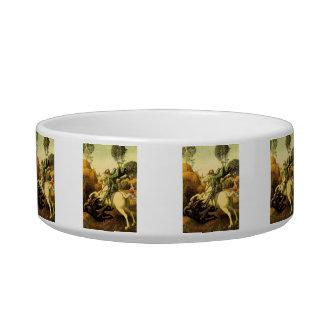 "Raphael's ""St. George and the Dragon"" (circa 1505) Pet Food Bowl"