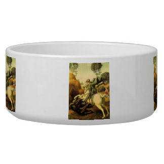 """Raphael's """"St. George and the Dragon"""" (circa 1505) Dog Water Bowl"""
