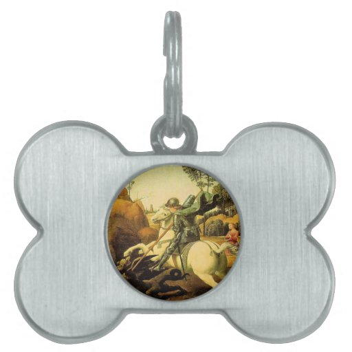 "Raphael's ""St. George and the Dragon"" (circa 1505) Pet ID Tag"