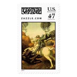 "Raphael's ""St. George and the Dragon"" (circa 1505) Postage"