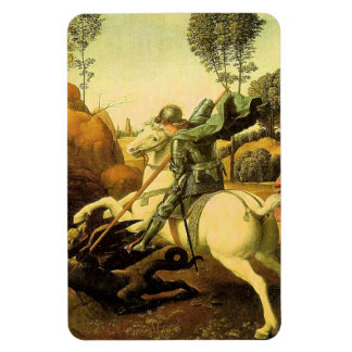 "Raphael's ""St. George and the Dragon"" (circa 1505) Rectangular Photo Magnet"