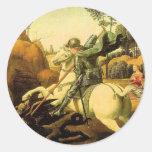 "Raphael's ""St. George and the Dragon"" (circa 1505) Sticker"