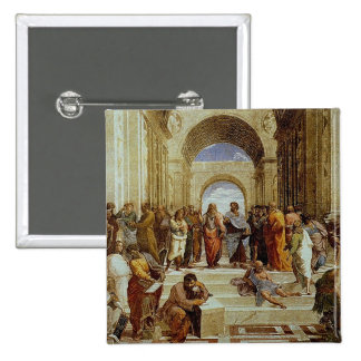 """Raphael's """"The School of Athens"""" Detail circa 1511 Pinback Buttons"""