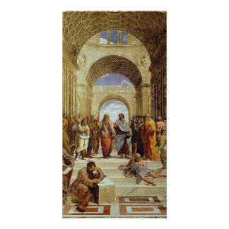 """Raphael's """"The School of Athens"""" Detail circa 1511 Card"""