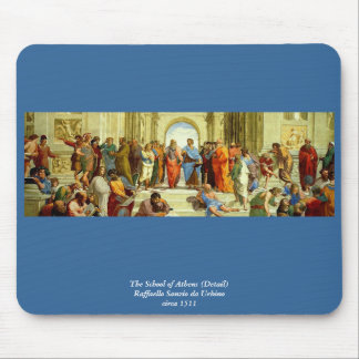 """Raphael's """"The School of Athens"""" Detail circa 1511 Mouse Pad"""