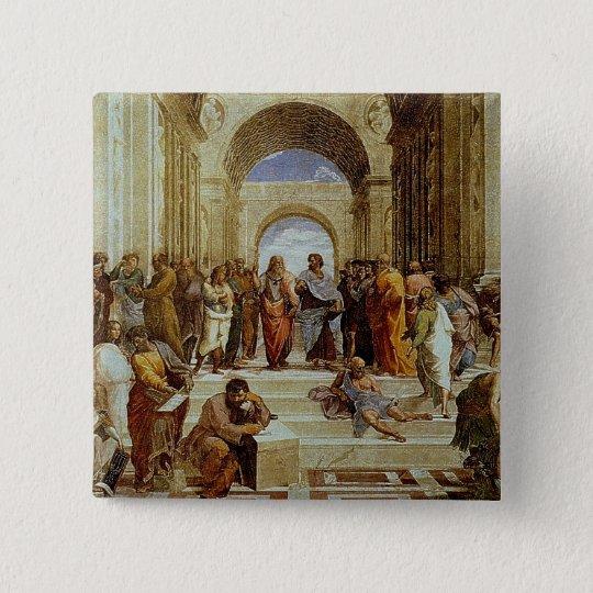 "Raphael's ""The School of Athens"" Detail circa 1511 Pinback Button"