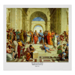 """Raphael's """"The School of Athens"""" Detail circa 1511 Poster"""