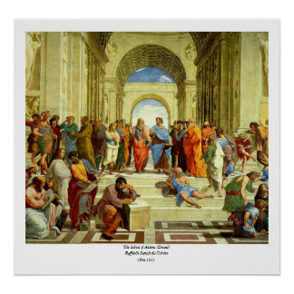 "Raphael's ""The School of Athens"" Detail circa 1511 Poster"