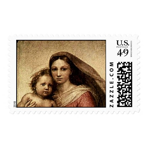 Raphael's The Sistine Madonna (Detail 3) Stamps