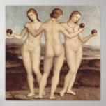 Raphael's Three Graces Poster Print