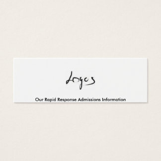 Rapid Response Admissions Information Card