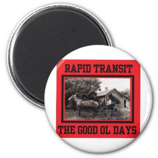 Rapid Transit Fridge Magnet