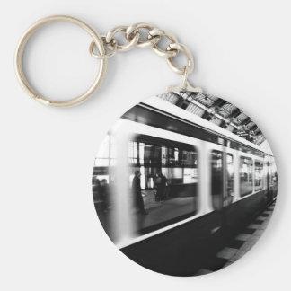 Rapid-transit railway Berlin black Weis Keychain