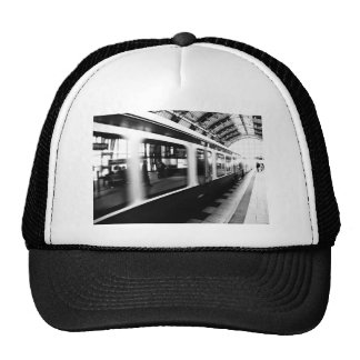 Rapid-transit railway Berlin black Weis photograph Hat