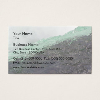 Rapid water flowing over mountain region business card