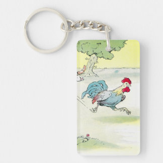 Rapidly Running Rooster Keychain