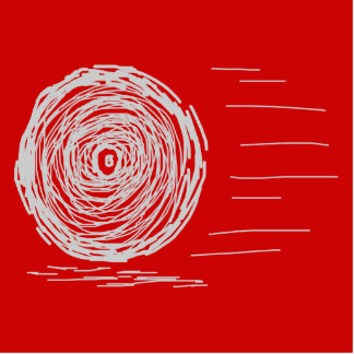 Rápido. Precipitación. Símbolo en gris en rojo Pin Fotoescultura