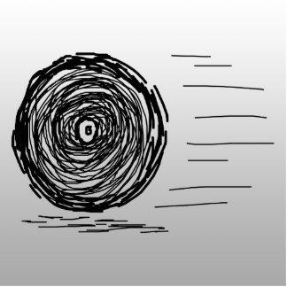 Rápido. Precipitación. Símbolo en negro en gris Pin Fotoescultura
