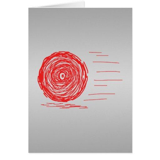 Rápido. Precipitación. Símbolo en rojo en gris Tarjeta De Felicitación