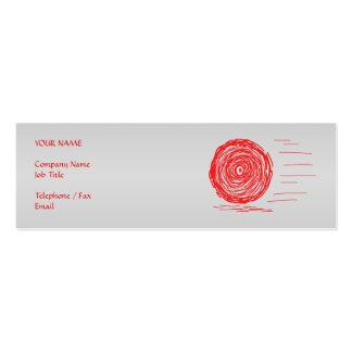 Rápido. Precipitación. Símbolo en rojo en gris Tarjetas De Visita Mini