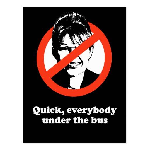 Rápido todos debajo del autobús postal