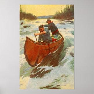 Rapids antiguos Canadá Oliverio Kemp del río del v Póster