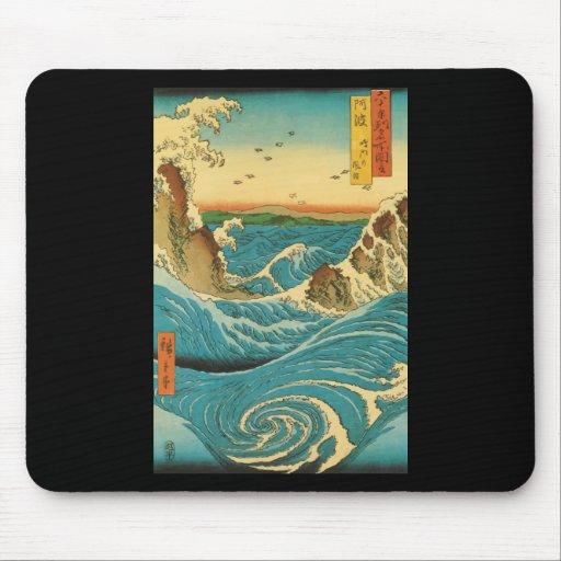 Rapids de Hiroshige Navaro Tapetes De Ratón