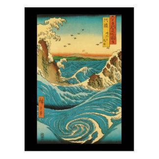 Rapids de Hiroshige Navaro Tarjeta Postal