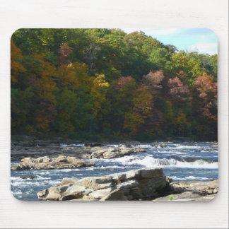 Rapids del río de Ohiopyle en el otoño de Alfombrilla De Ratón