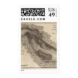 Rapids, in the River Ohio Postage Stamp