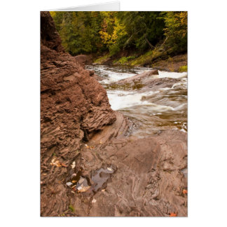 Rapids negros del río tarjeta de felicitación