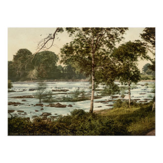 Rapids on the Shannon, County Limerick Poster