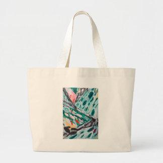 Rapids verdes de la montaña (paisaje abstracto) bolsas