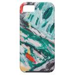 Rapids verdes de la montaña (paisaje abstracto) iPhone 5 Case-Mate cárcasas