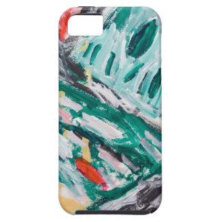 Rapids verdes de la montaña (paisaje abstracto) iPhone 5 funda
