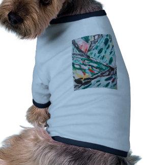 Rapids verdes de la montaña paisaje abstracto camisetas de mascota