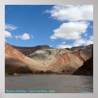 Raplee Anticline ~ San Juan River, Utah Poster