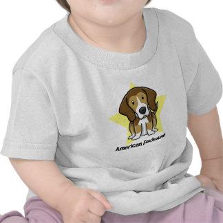Raposero americano de la estrella de Kawaii Camiseta